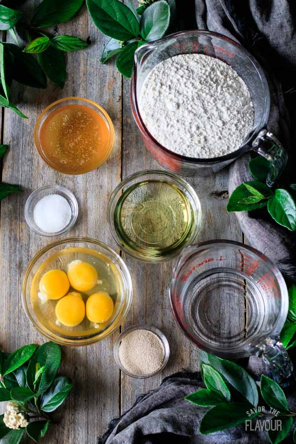 ingredients for challah bread
