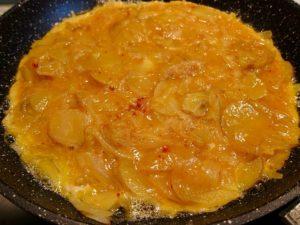 Cooking a Tortilla Espanola