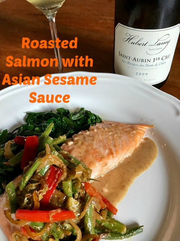 Roasted Salmon and White Burgundy