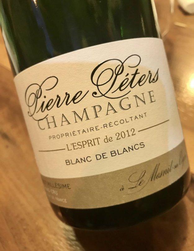 Pierre Péters Champagne Le Mesnil sur Oger Cote des Blancs