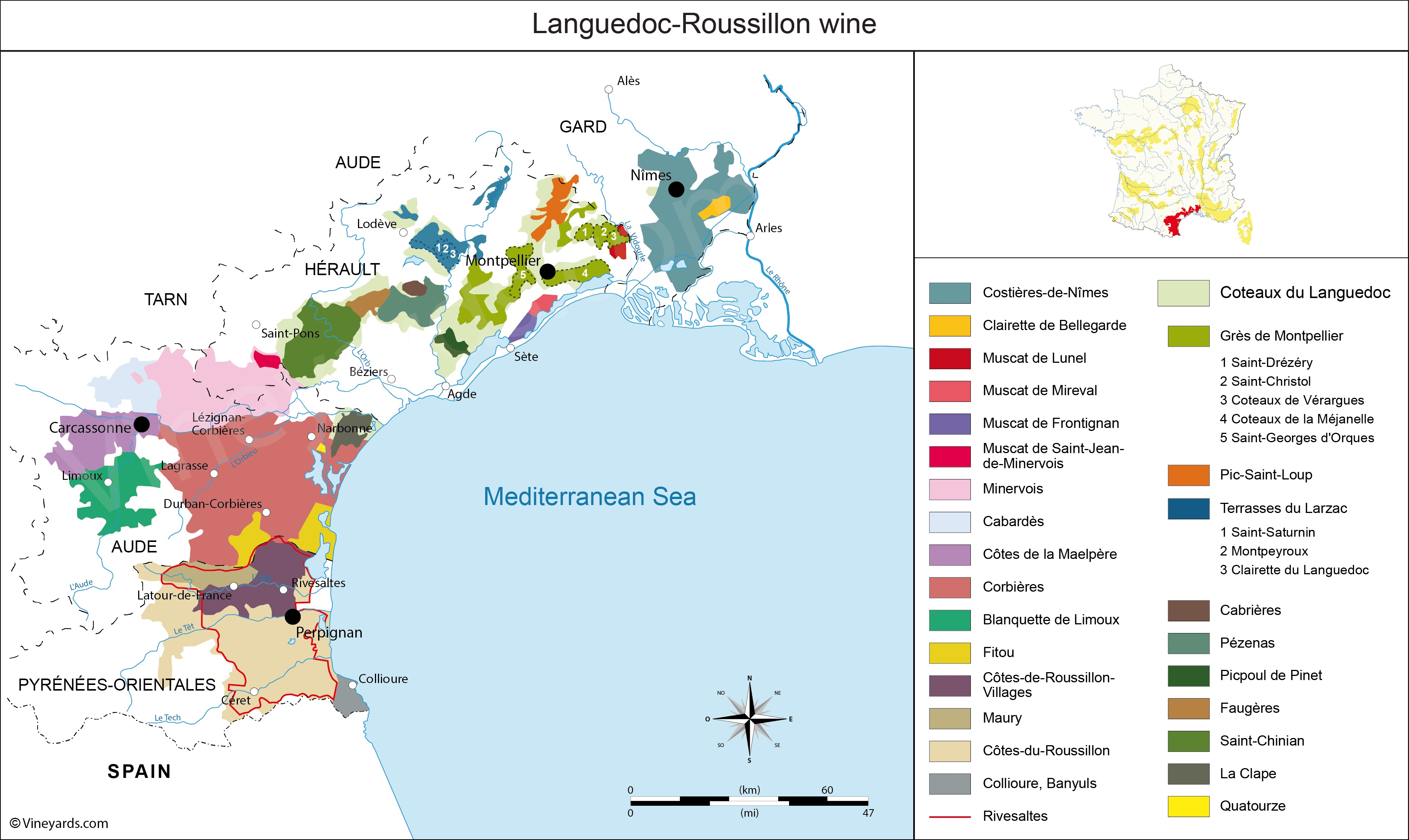 Wine Region Map Of France.Fresh And Clean Wines In Southern France Corbieres Savor The Harvest