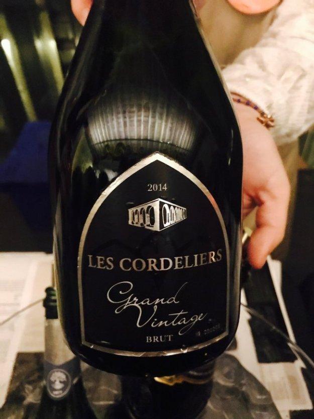 Les Cordeliers sparkling cremant wine Saint-Emilion French