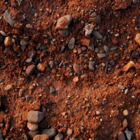Limestone rich red soils around Opoul in northern Roussillon