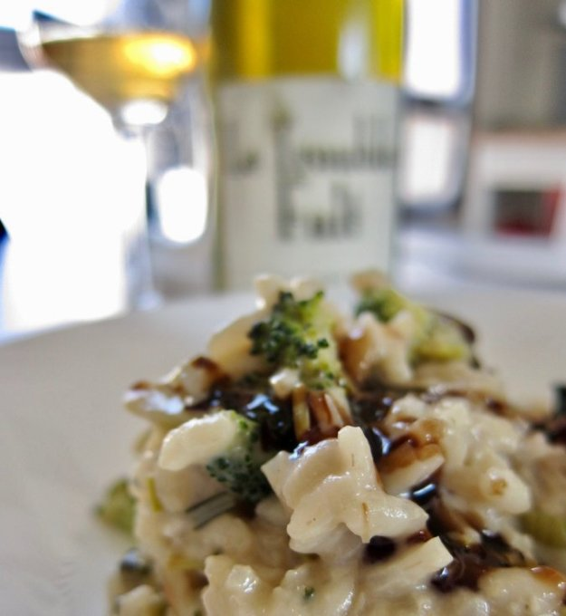 risotto with roussillon wine