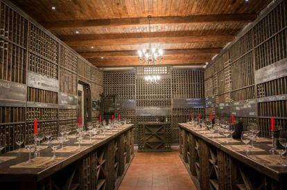Wine tasting in a Moldovan cellar