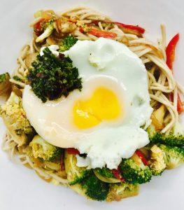 vegetarian udon noodles sesame sauce