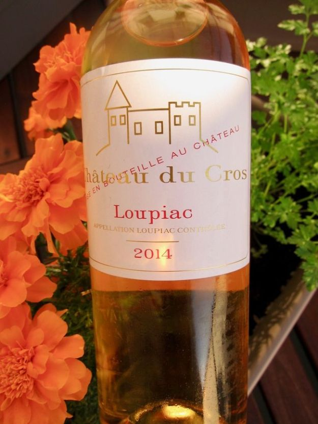 Chateau du Cros Loupiac 2014 Bordeaux sweet wine