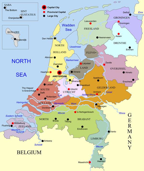 map Netherlands Middleberg