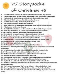 25 Storybooks of Christmas