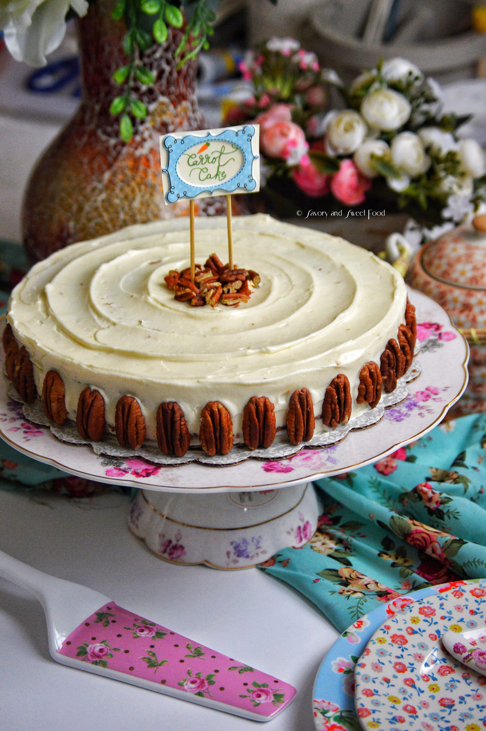 Perfect Carrot Cake With Cream Cheese Frosting Savory Sweetfood