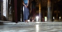 floor of teak monastery