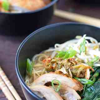 Miso Soup Ramen Bowl Using Leftovers