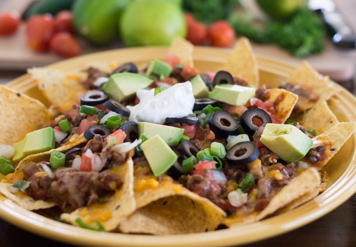 Spicy Black Bean and Sausage Nachos using Leftovers DSC_0086