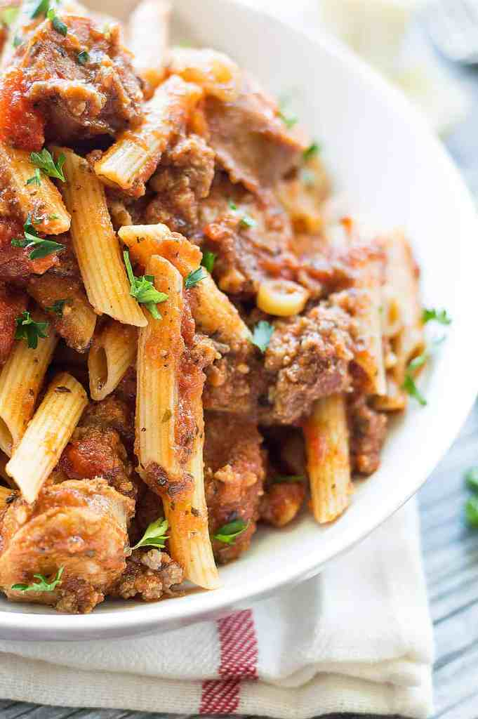 Spicy Italian Sausage Marinara Pasta DSC_0419-3