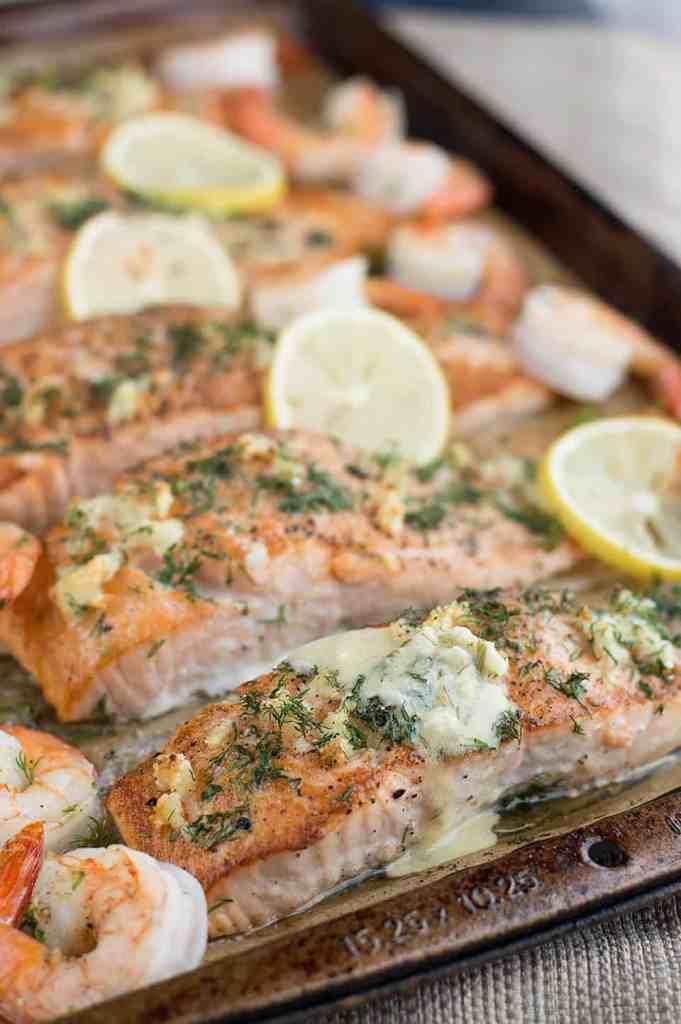 Seared Salmon and Shrimp with Creamy Dijon Dill Sauce dsc_0472