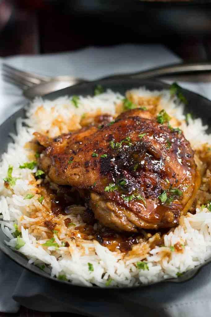 Crispy One Pan Honey Garlic Ethiopian Berbere Chicken Thighs dsc_0698-2