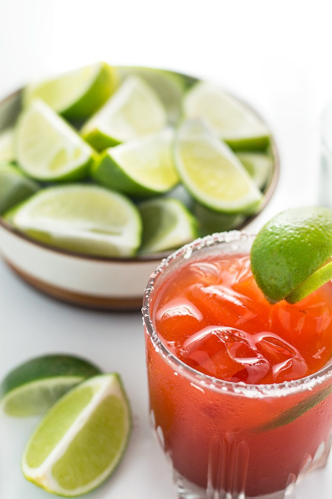These Hawaiian Li Hing Mui Margaritas are a Hawaiian favorite. It's a spin on the classic margarita! This recipe will allow you to have the traditional margarita or the popular Li Hing Mui Margarita either way. DSC_0699