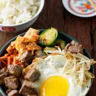 Bibimbap (The Hubby's Recipe)