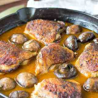 One Pan Golden Mushroom Chicken