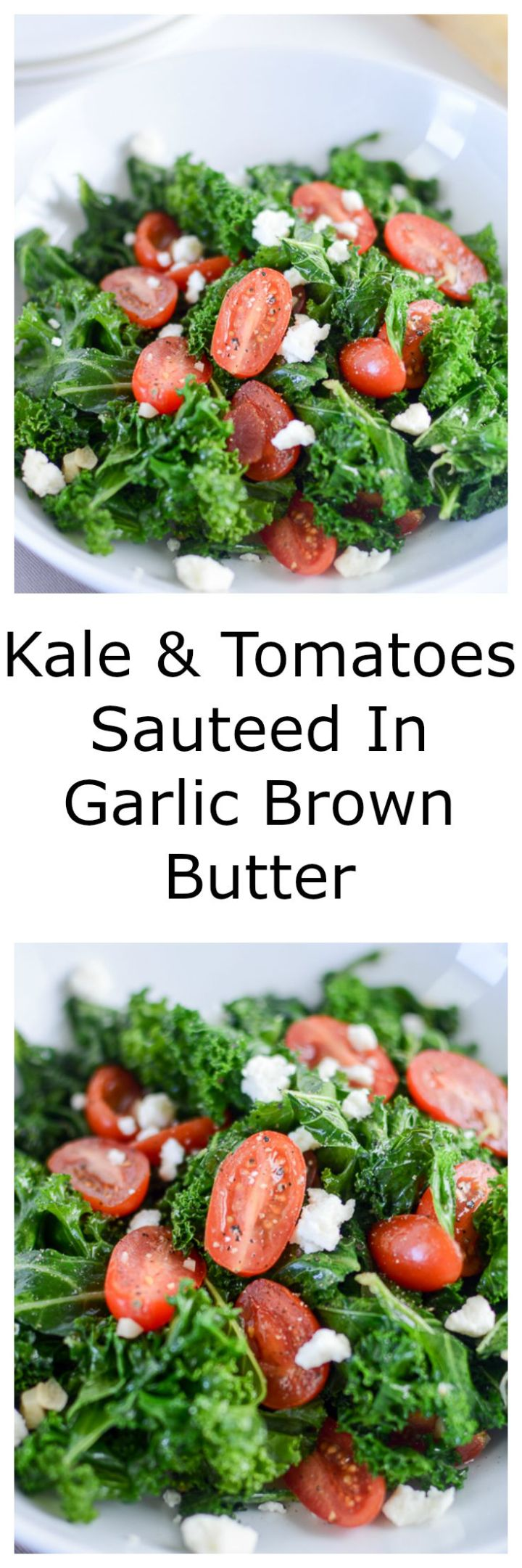 kale & tomatoes sauteed in garlic brown butter