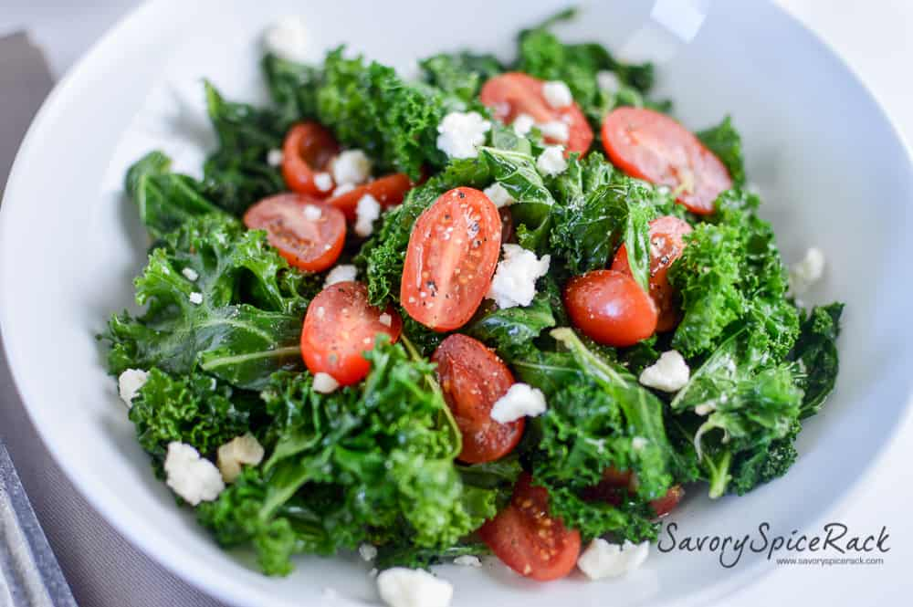 Kale and Tomatoes Sauteed in Garlic Brown Butter