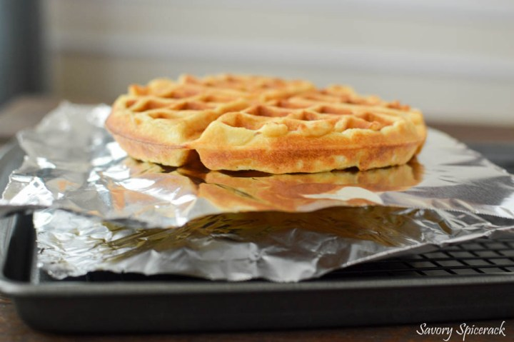 Homemade freezer waffles