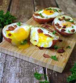 Breakfast Bacon Egg Potato Skins With Davidson's Safest Choise Eggs @RunninSrilankan