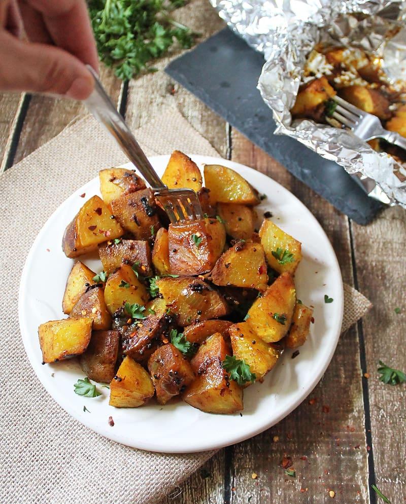 "Sri Lankan Deviled Potatoes ""Ala Thel Dala"""