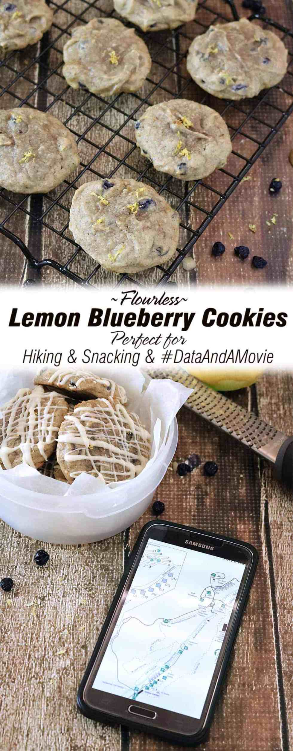 Lemon Blueberry Cookies {Flourless} #DataAndAMovie