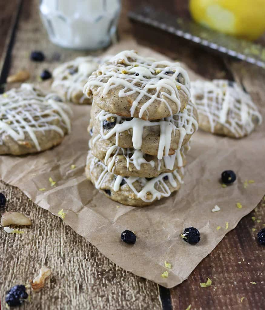 Lemon Blueberry Cookies {Flourless}