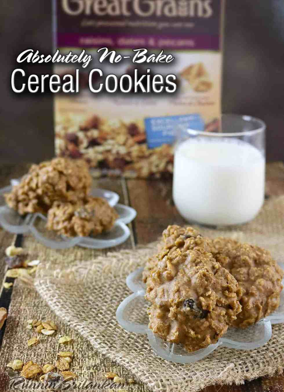 No-Bake Cereal Cookies #RealDelicious #CerealAnytime