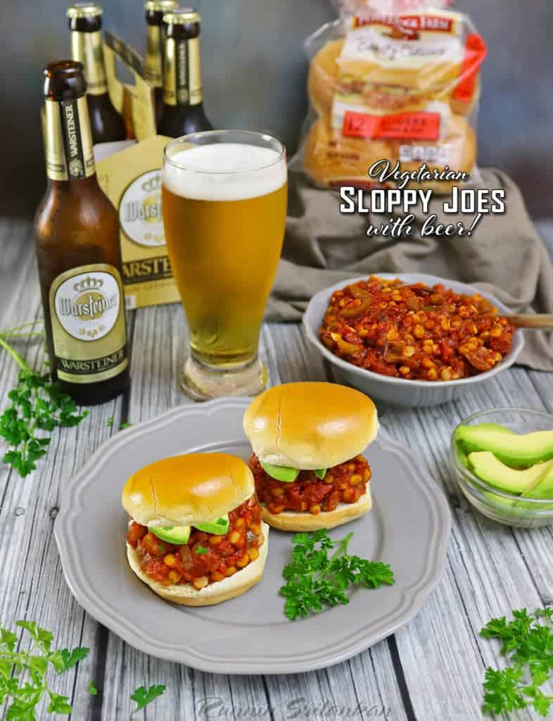 Vegetarian Sloppy Joes With Beer