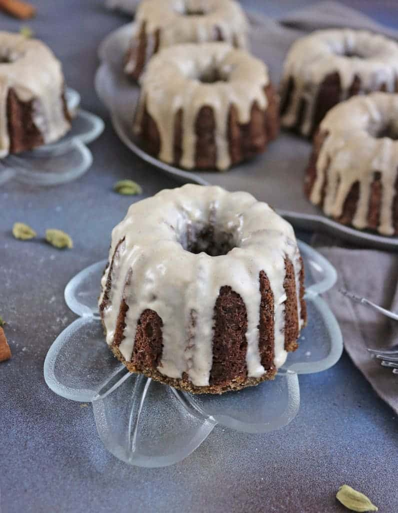 Buckwheat Banana Mini Bundt Cakes