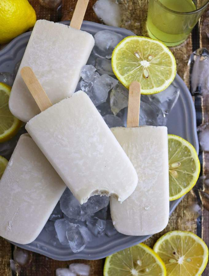 Creamy 3-Ingredient Limoncello Popsicles