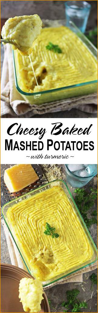Easy Cheesy Baked Mashed Potatoes With Turmeric