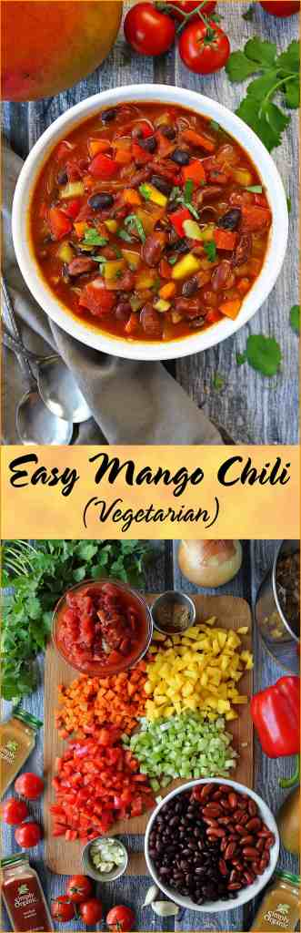 Easy Vegetarian Mango Chili #ChooseMyChili
