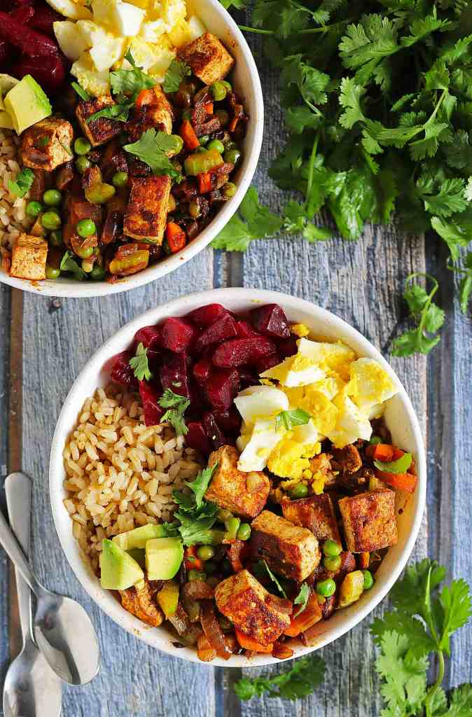 Spiced Tofu Veggie Bowls