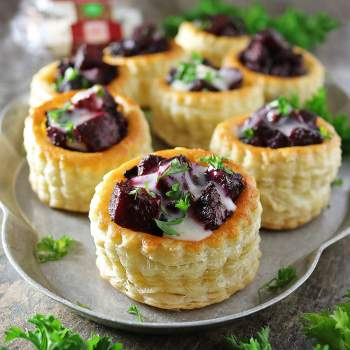 Goat Cheese Puff Pastry Stacks