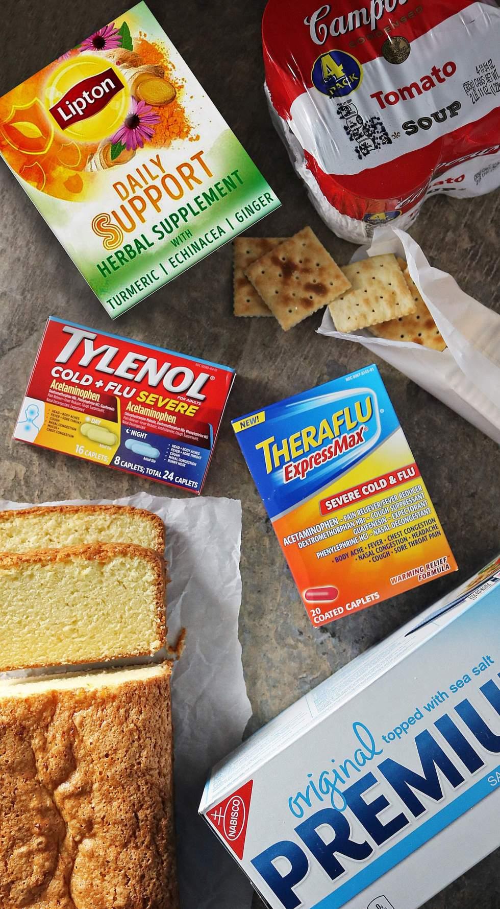 Easy Orange Ginger Loaf, Campbell's®, Lipton, Premium Crackers, Theraflu, TYLENOL®, #SickDaSolutions