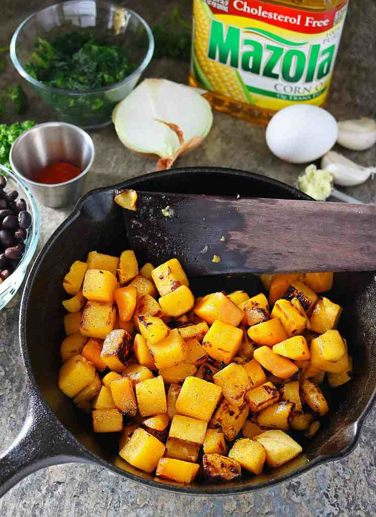 Butternut Squash Roasted With Mazola Cooking Oil