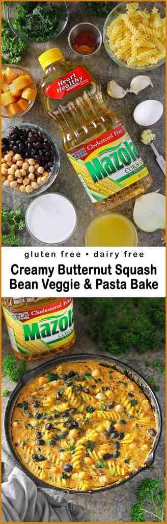 Easy Bean & Veggie Pasta Bake with Creamed Butternut Squash #simpleswap