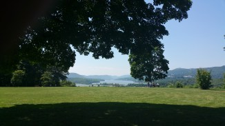 Overlooking the hudson