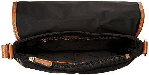 inside view of the CK Dressy Nylon Messenger Bag