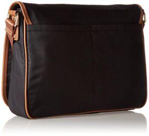 back view of the CK Dressy Nylon Messenger Bag