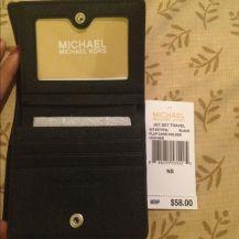 Michael Kors - JET SET SAFFIANO LEATHER CARD HOLDER - Navy