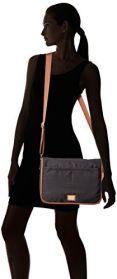 Model wearing the CK Dressy Nylon Messenger Bag