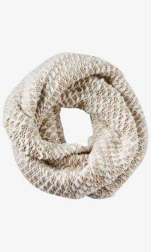 Ivory White Marl Knit Twist Loop Scarf