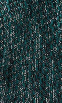 Green Marl Knit Twist Loop Scarf