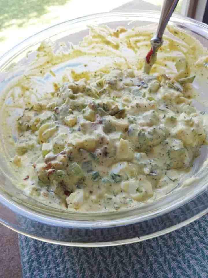 Simple Potato Salad with Bacon