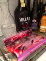 Tuck the salmon in the fridge to marinate photo - Karen Anderson